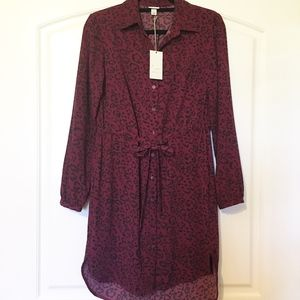 A New Day Animal Print Dress Small NWT